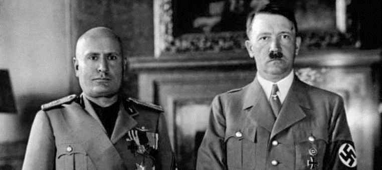 Mussolini and Hitler 1940 retouched