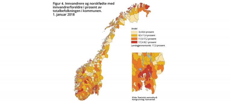 Fig 4 Innvandrere I Kommunene